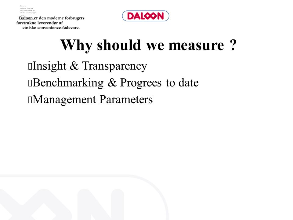 Why should we measure Insight & Transparency