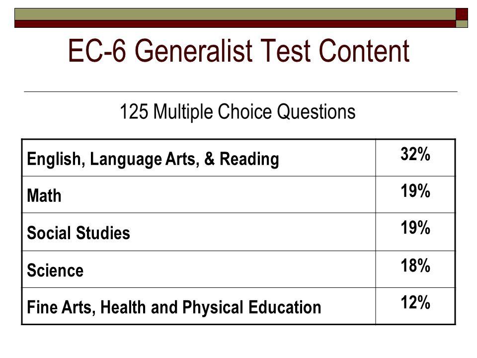 EC-6 Generalist Test Content