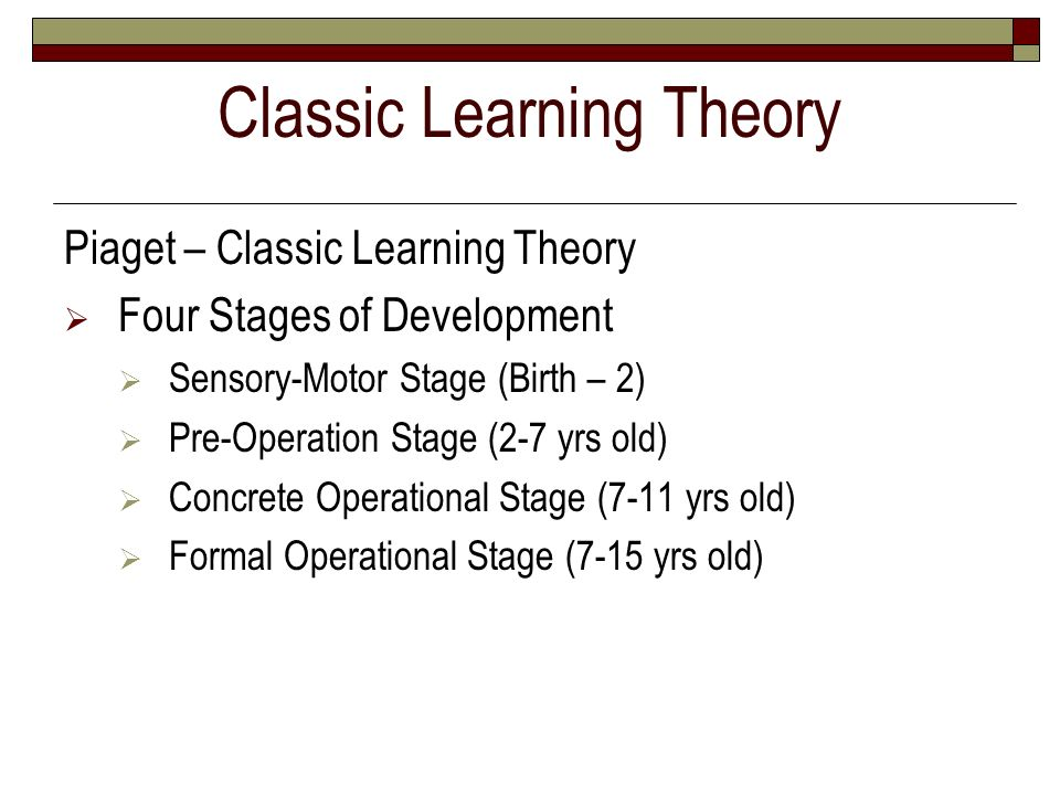 Classic Learning Theory