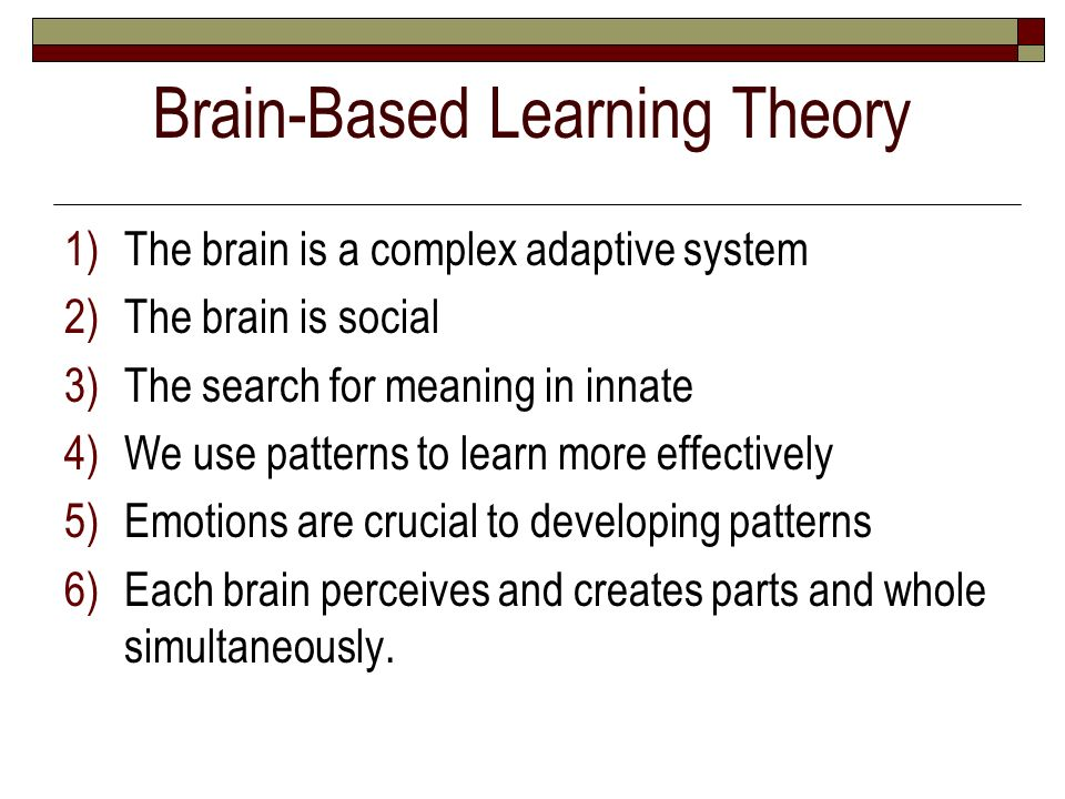 brain based learning and play