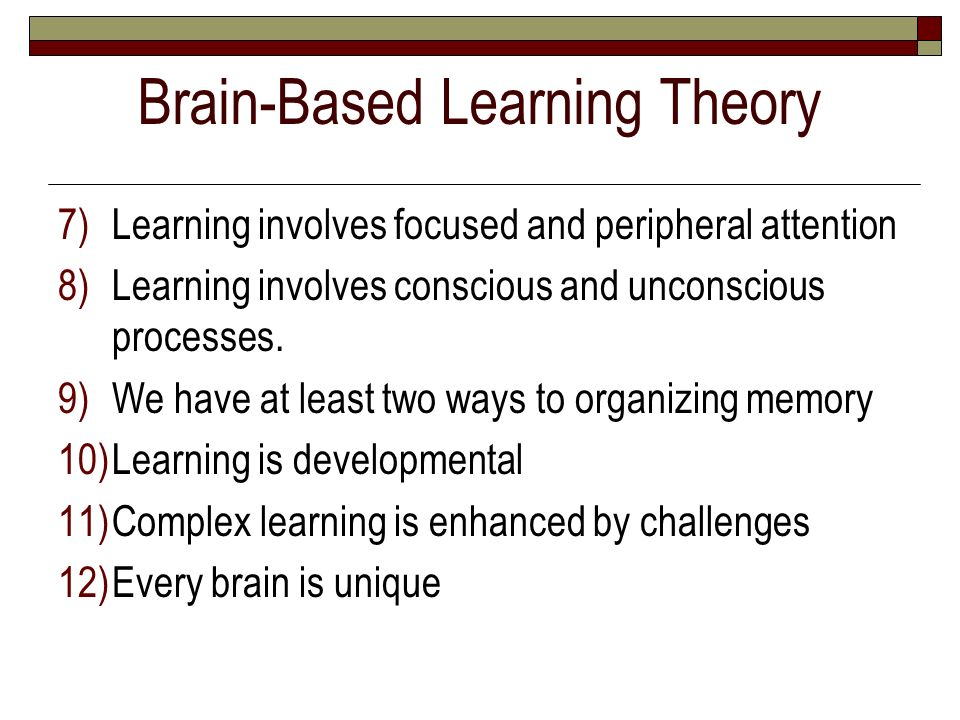 Brain-Based Learning Theory