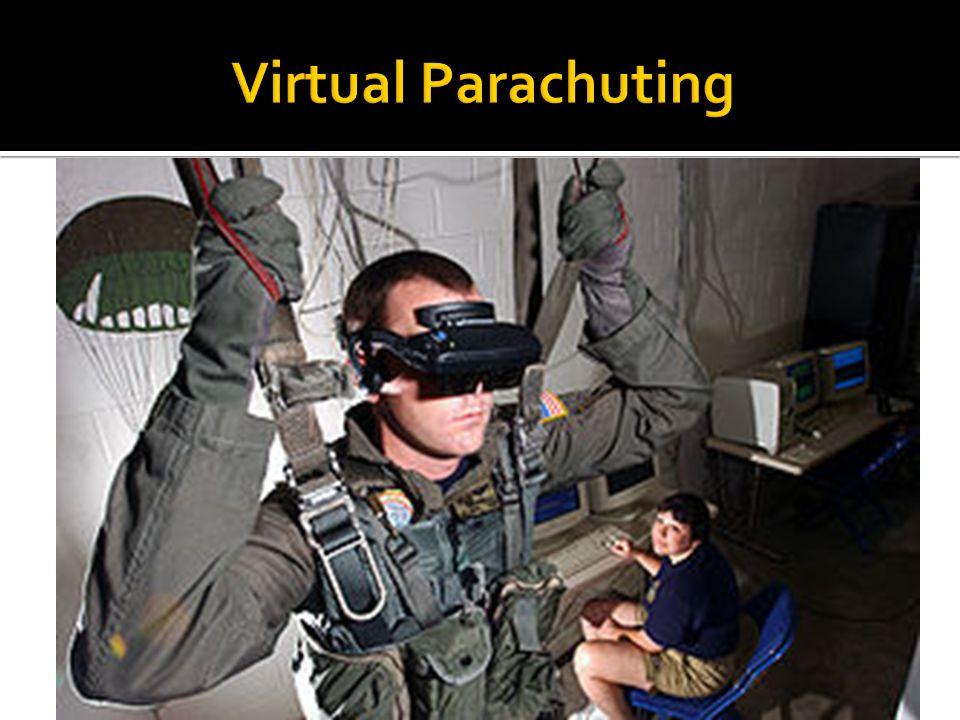 Virtual Parachuting Military technology gets transferred over to the civilian population