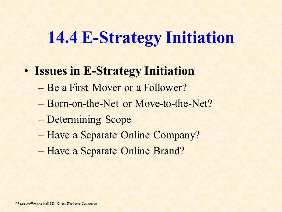 14.4 E-Strategy Initiation