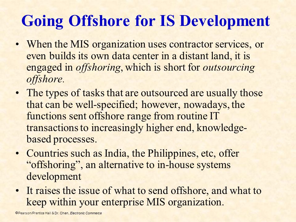 Going Offshore for IS Development