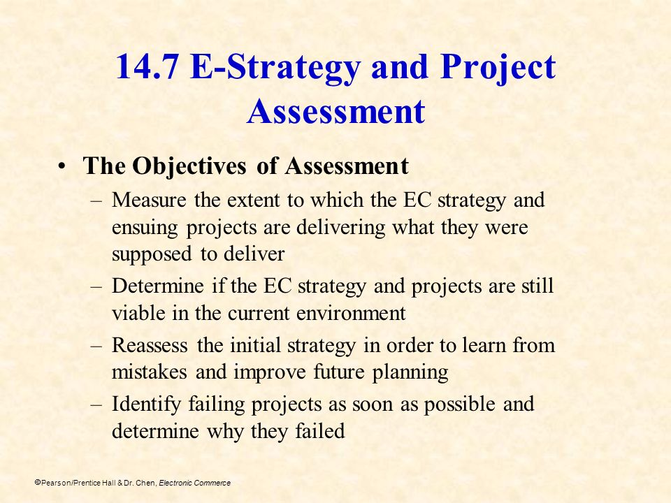 14.7 E-Strategy and Project Assessment