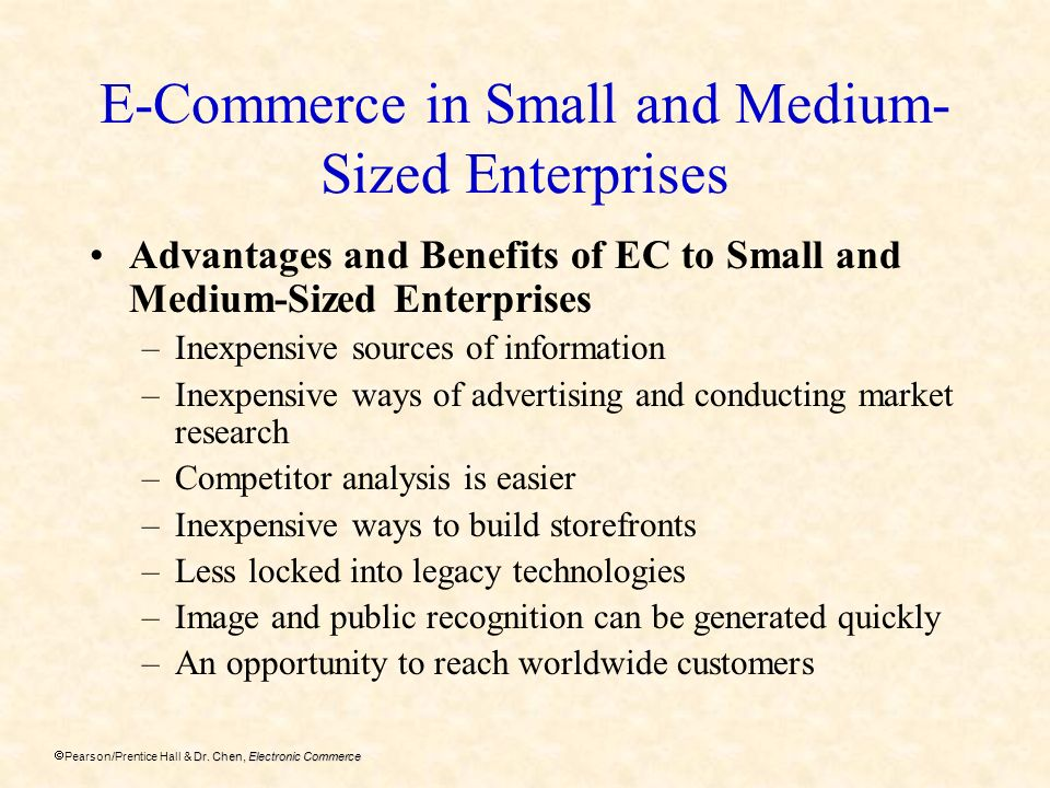 E-Commerce in Small and Medium-Sized Enterprises