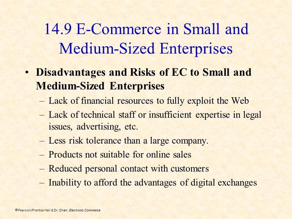 14.9 E-Commerce in Small and Medium-Sized Enterprises