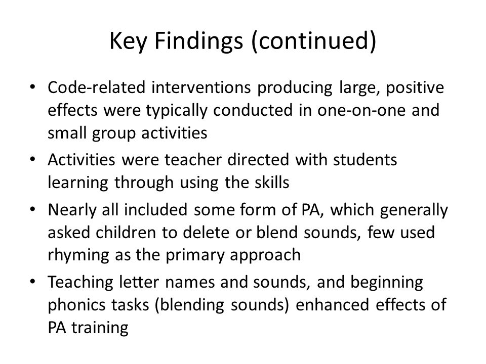 Key Findings (continued)
