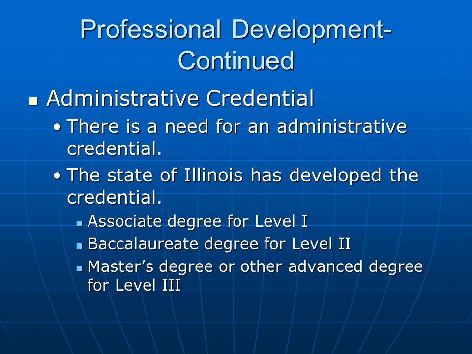 Professional Development-Continued