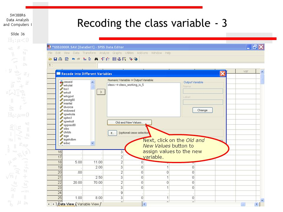 Recoding the class variable - 3