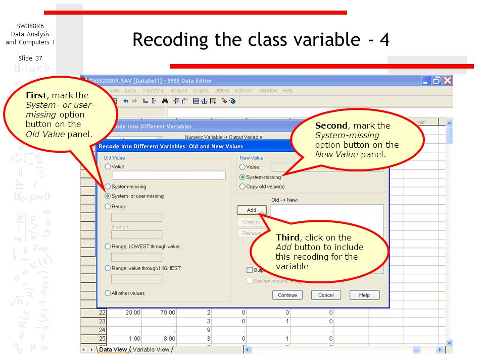 Recoding the class variable - 4