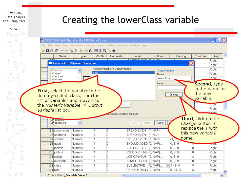 Creating the lowerClass variable