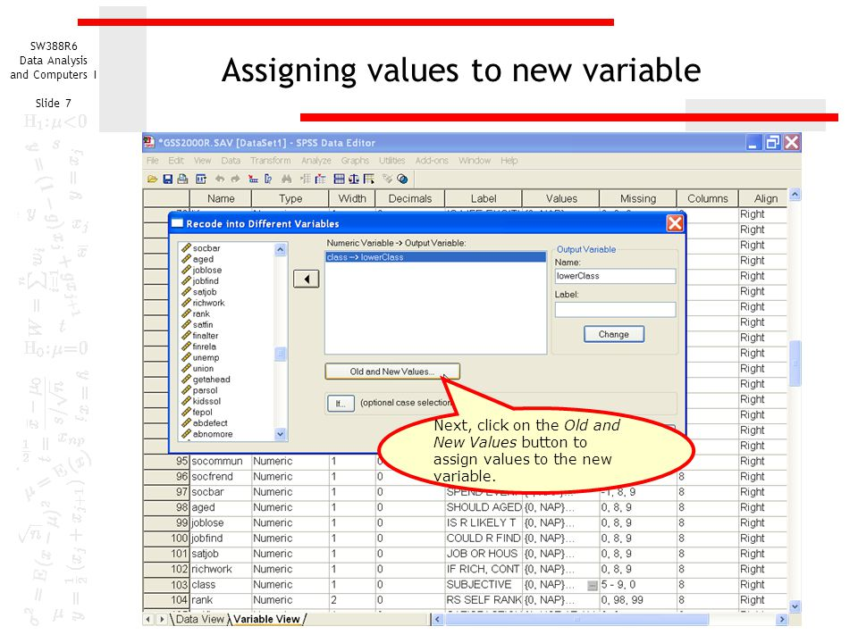 Assigning values to new variable
