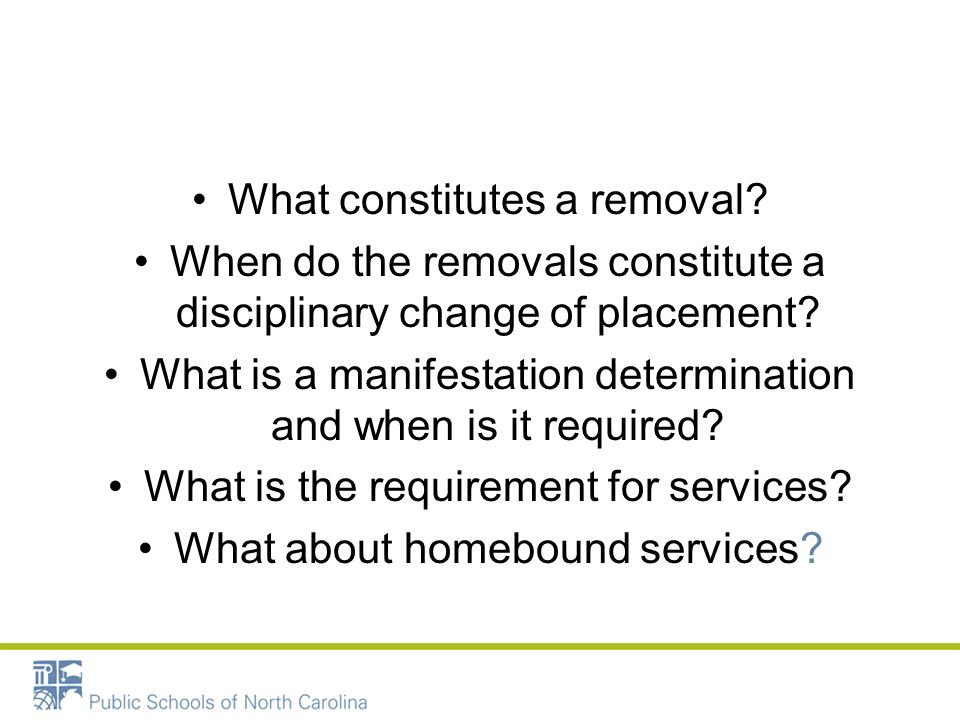What constitutes a removal
