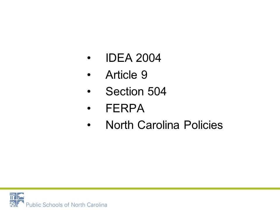 North Carolina Policies