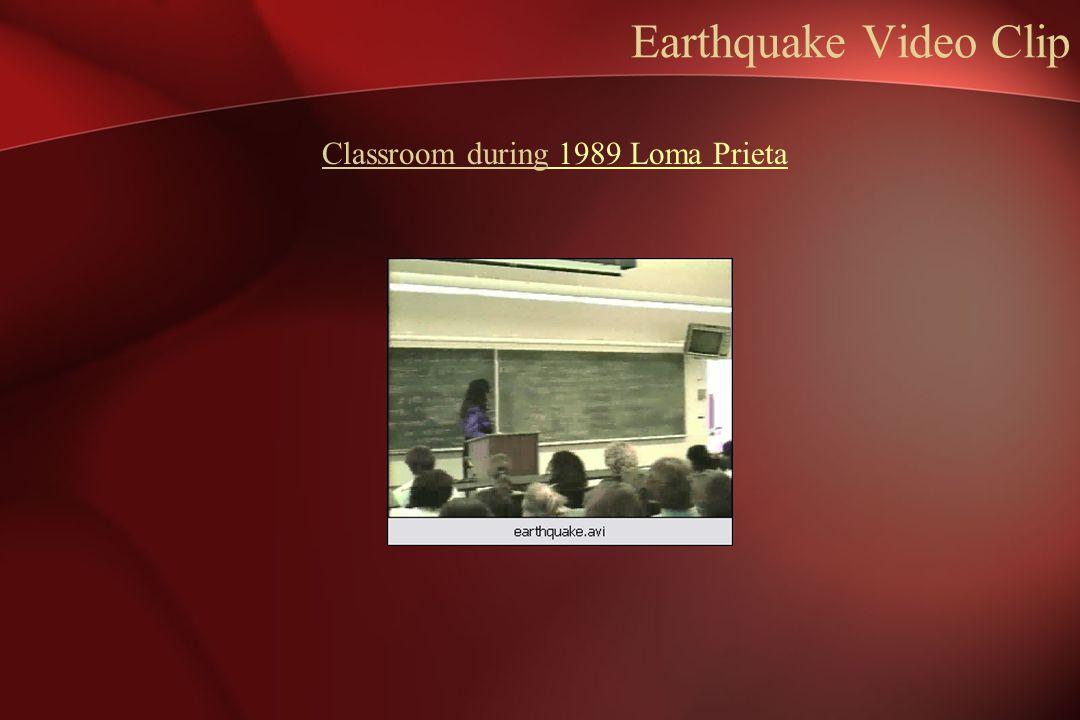 Earthquake Video Clip Classroom during 1989 Loma Prieta