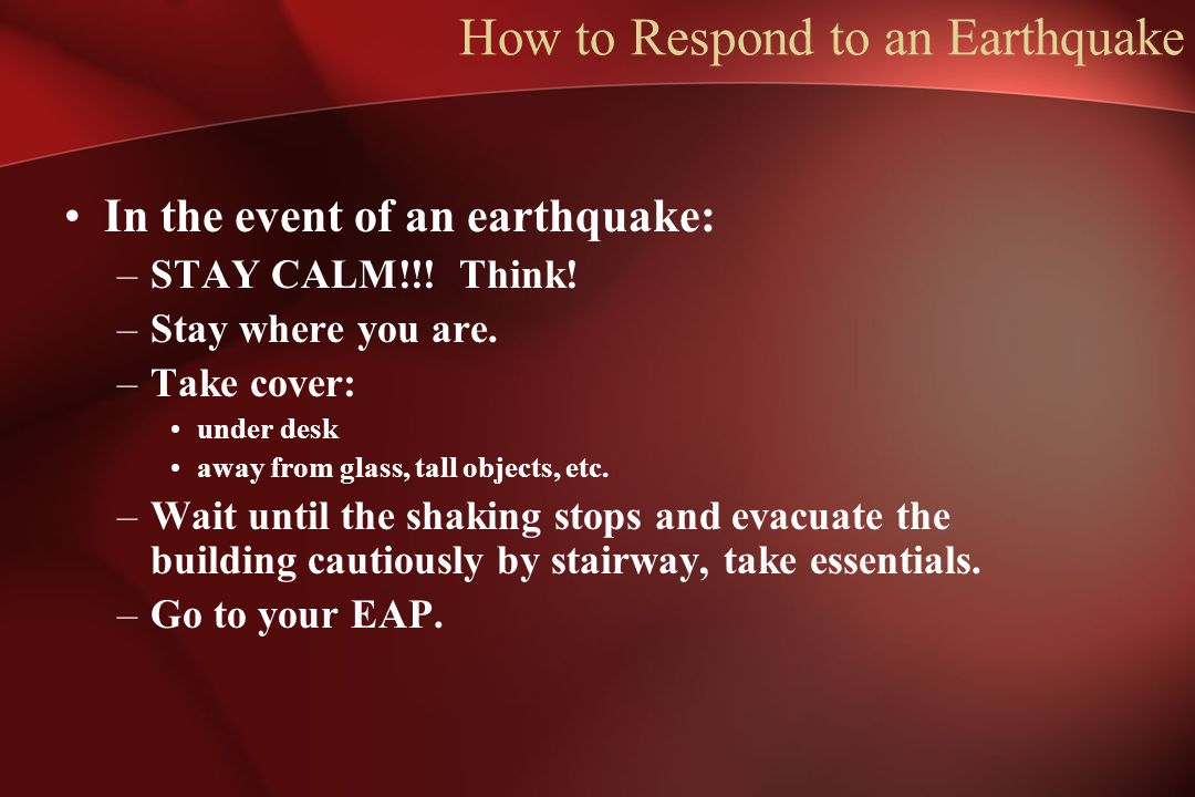 How to Respond to an Earthquake
