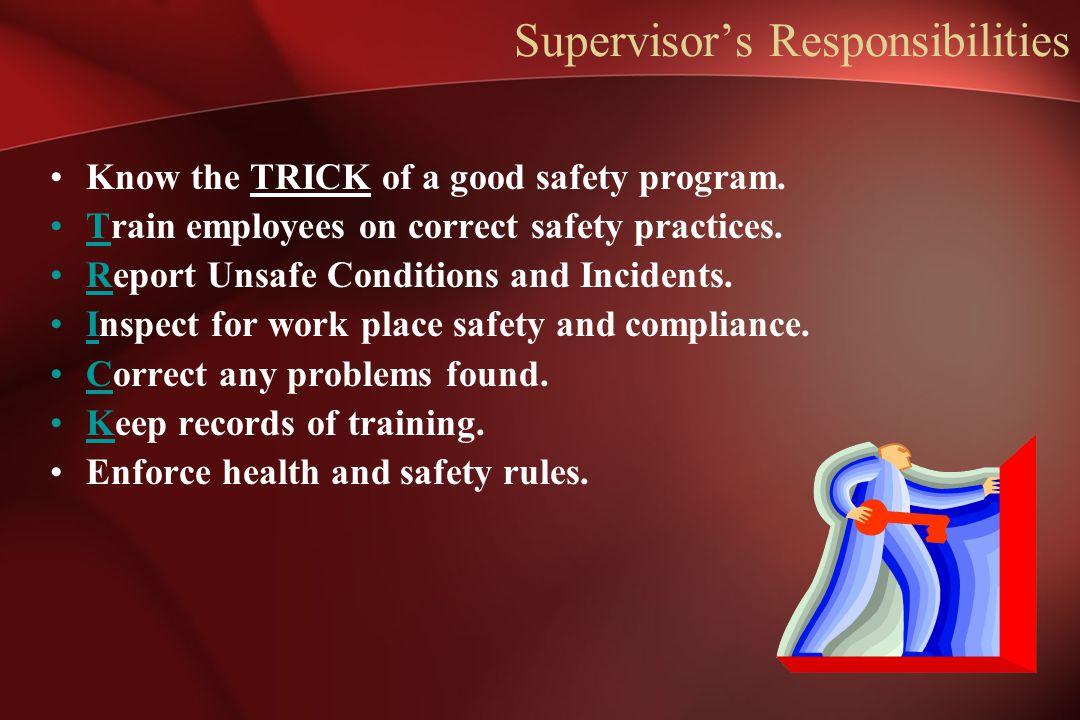Supervisor's Responsibilities