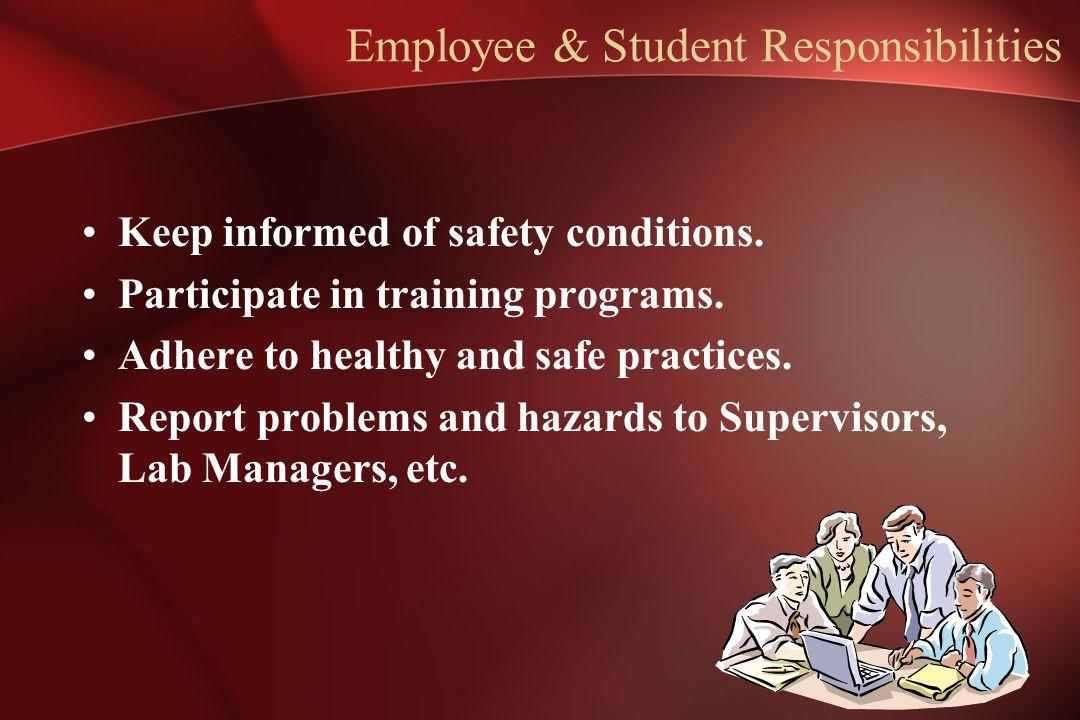 Employee & Student Responsibilities