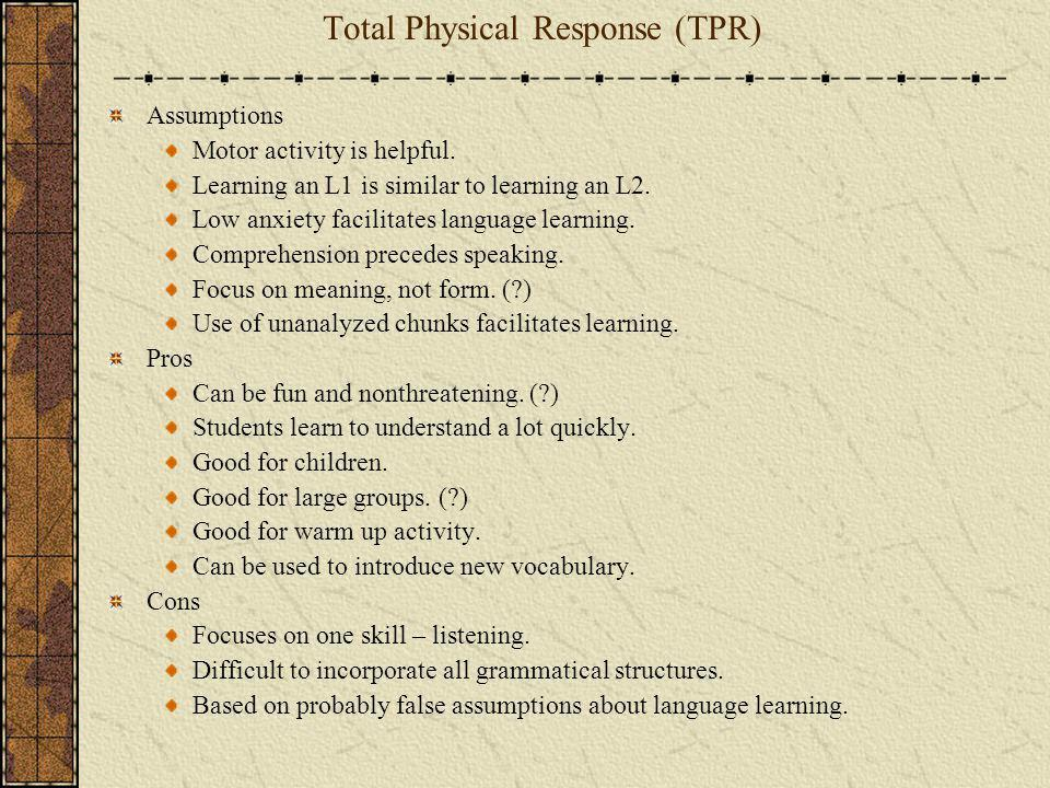 Total Physical Response (TPR)