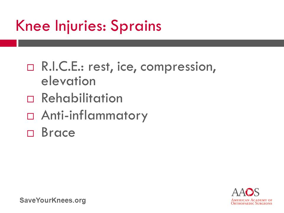Knee Injuries: Sprains