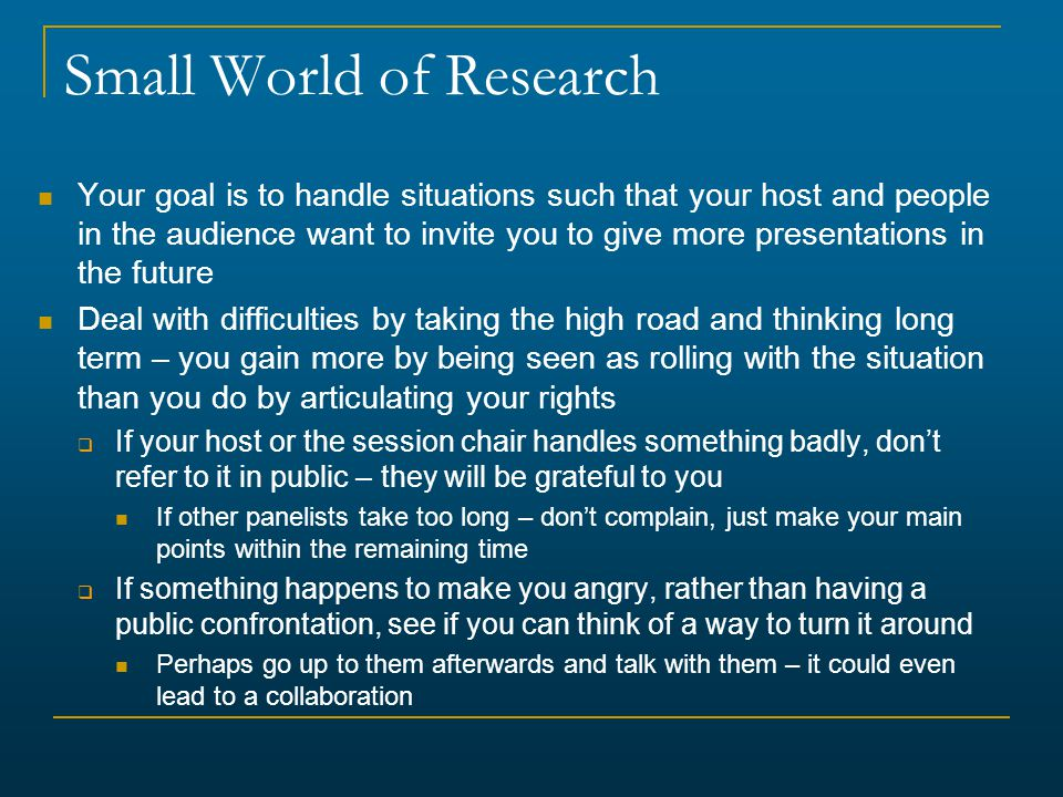 Small World of Research