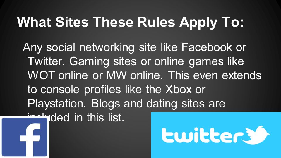 What Sites These Rules Apply To:
