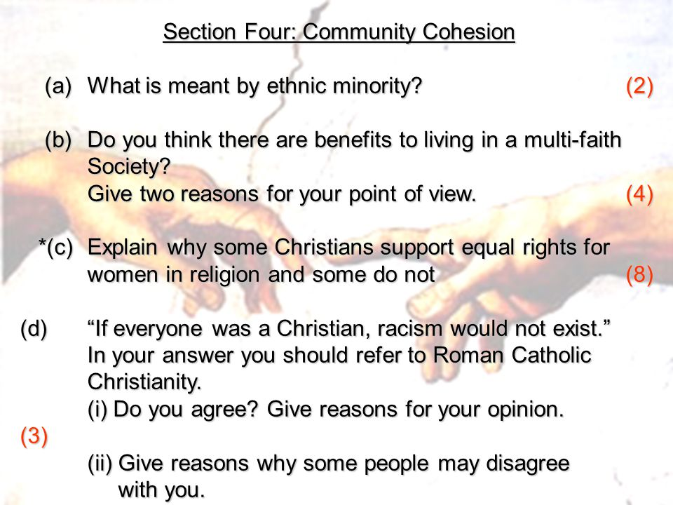 Section Four: Community Cohesion