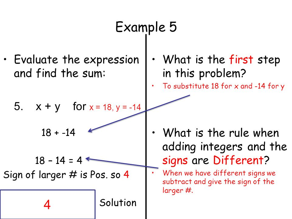 Example 5 4 Evaluate the expression and find the sum: