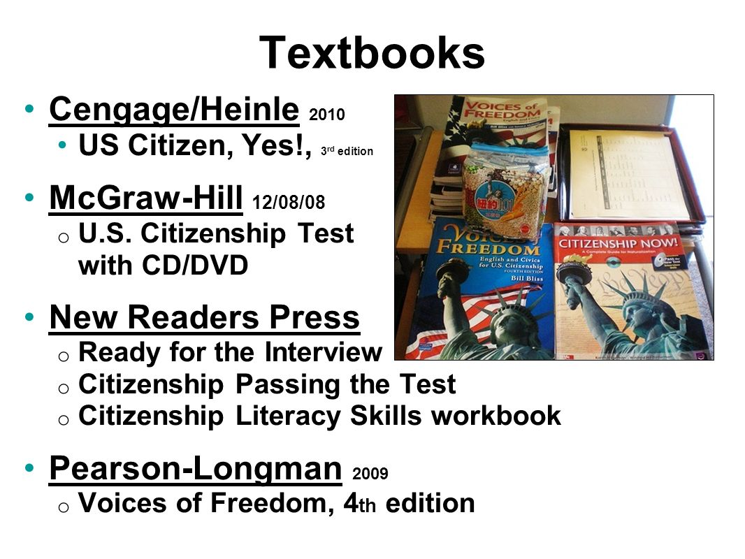 Textbooks Cengage/Heinle 2010 McGraw-Hill 12/08/08 New Readers Press