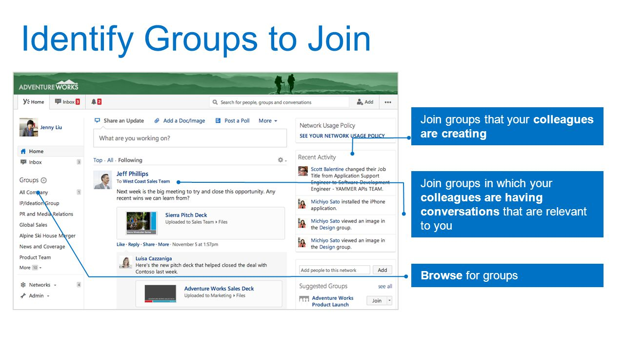 Identify Groups to Join