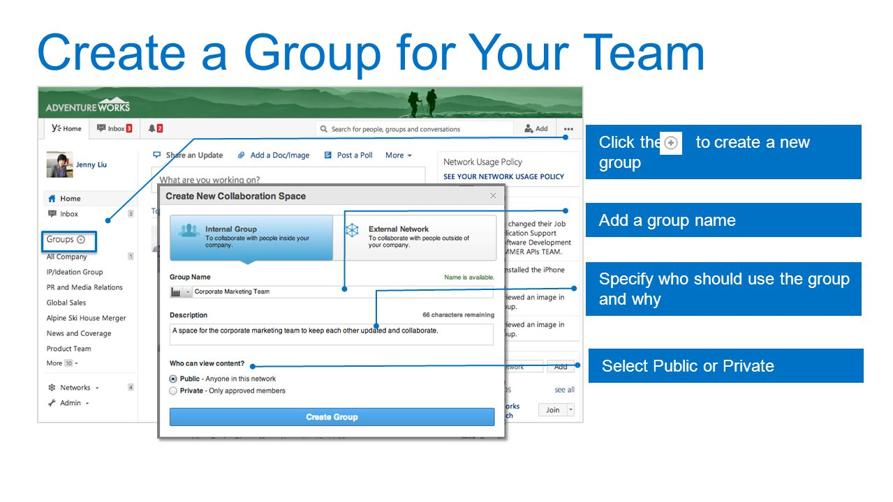 Create a Group for Your Team