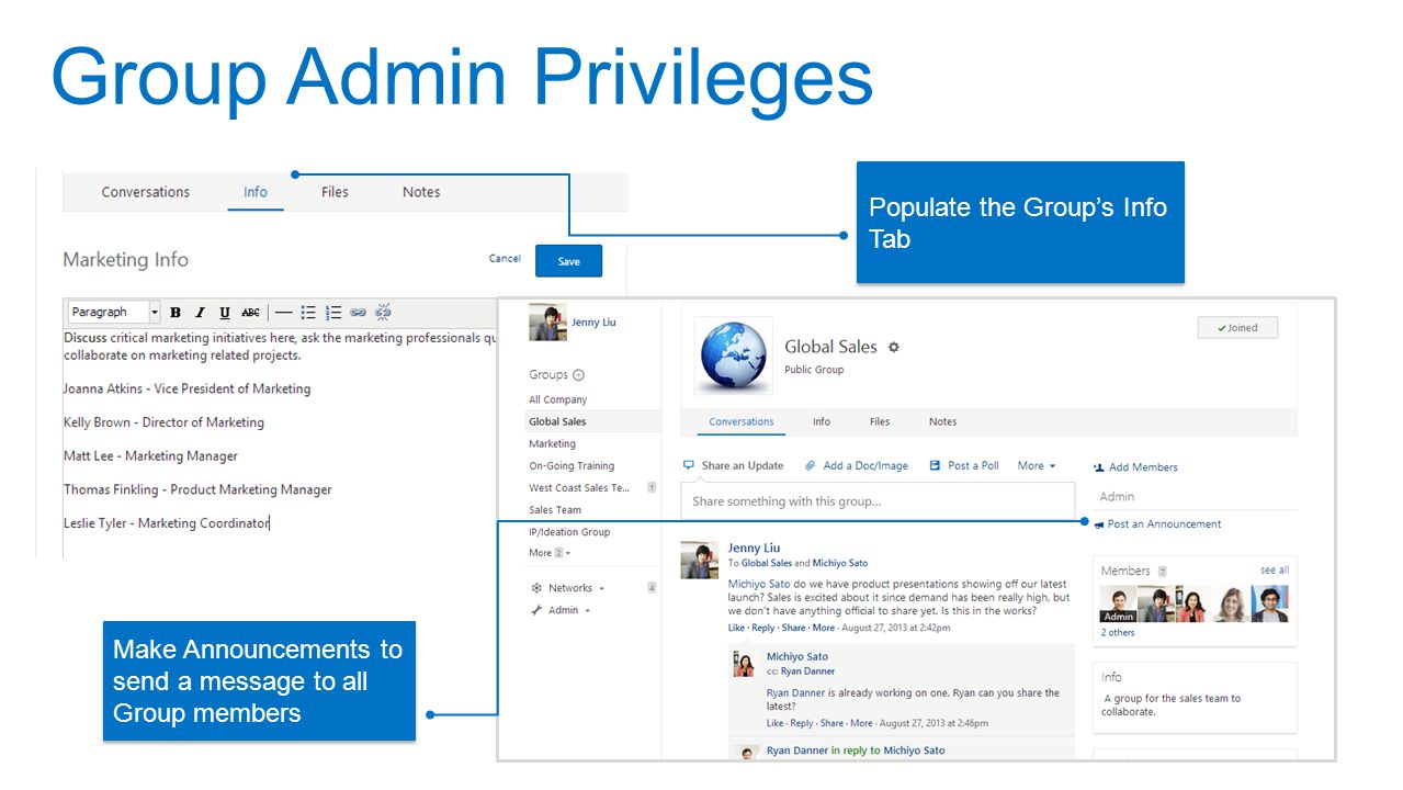 Group Admin Privileges