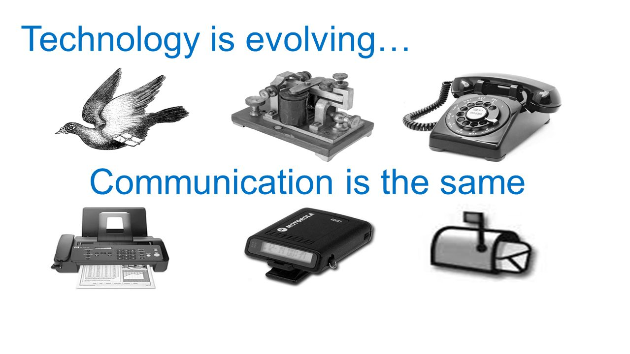 Technology is evolving…