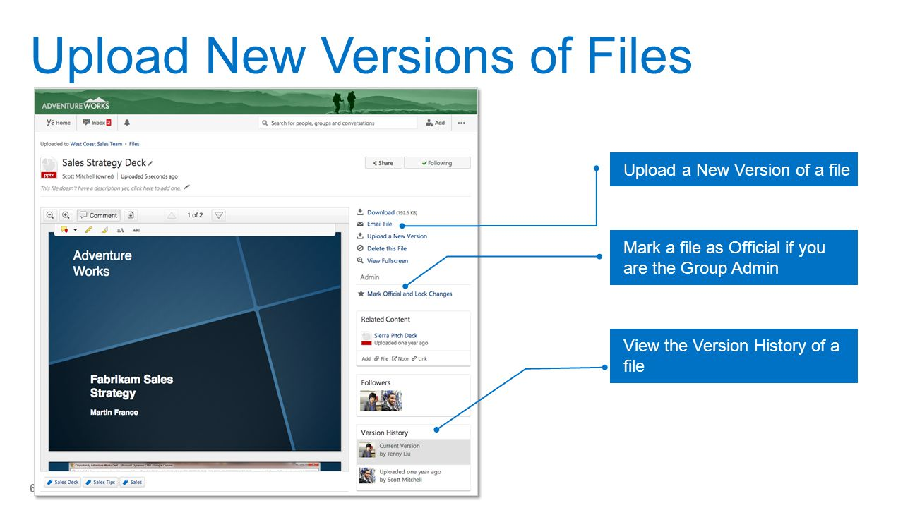 Upload New Versions of Files