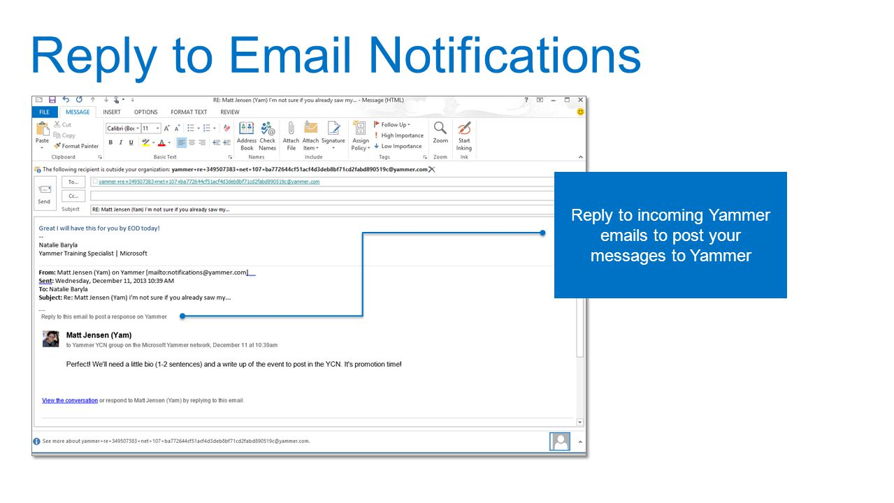 Reply to Email Notifications
