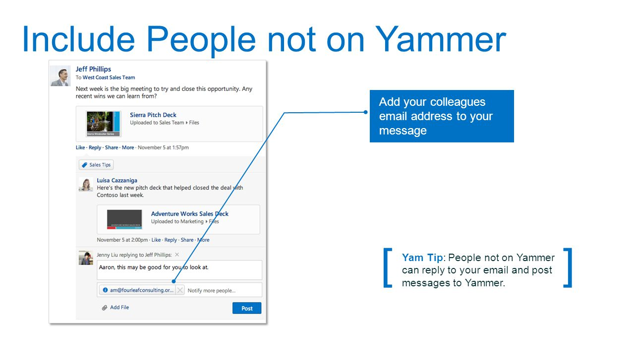 Include People not on Yammer