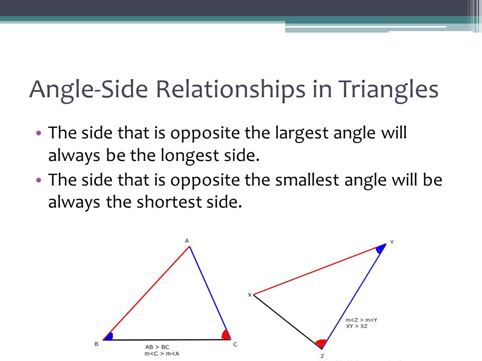 Angle-Side Relationships in Triangles