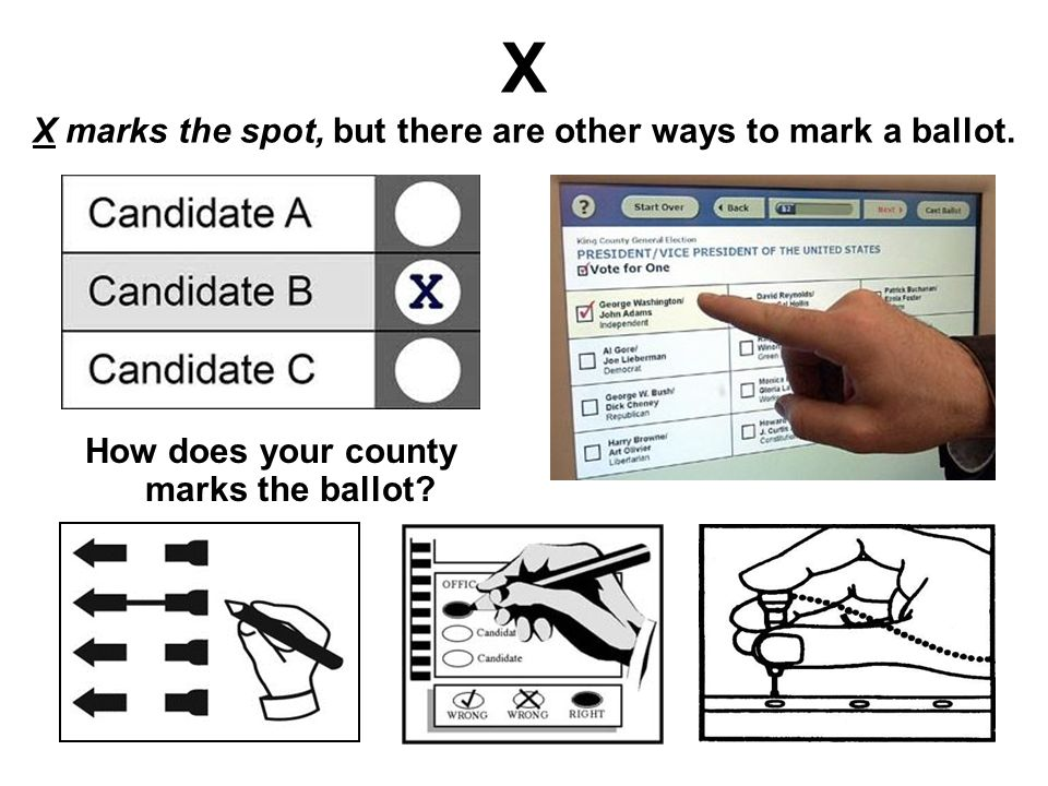 X X marks the spot, but there are other ways to mark a ballot.