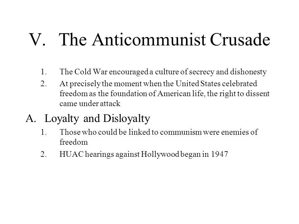V. The Anticommunist Crusade