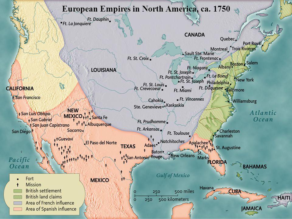 European Empires in North America, ca. 1750 • pg. 152