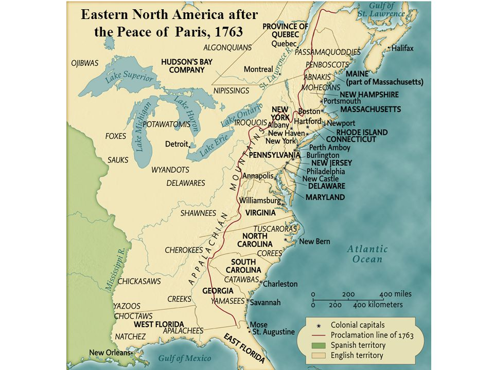 Eastern North America after the Peace of Paris, 1763 • pg. 154
