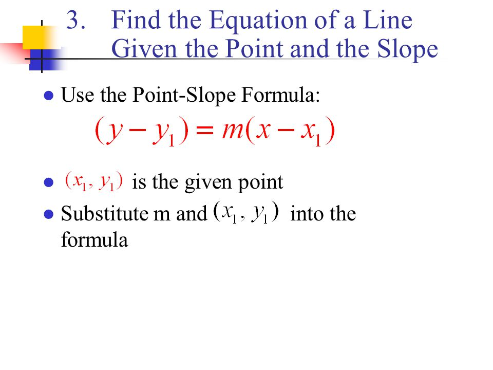 Find Equation of Line From 2 Points