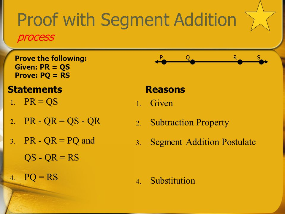 Proof with Segment Addition process