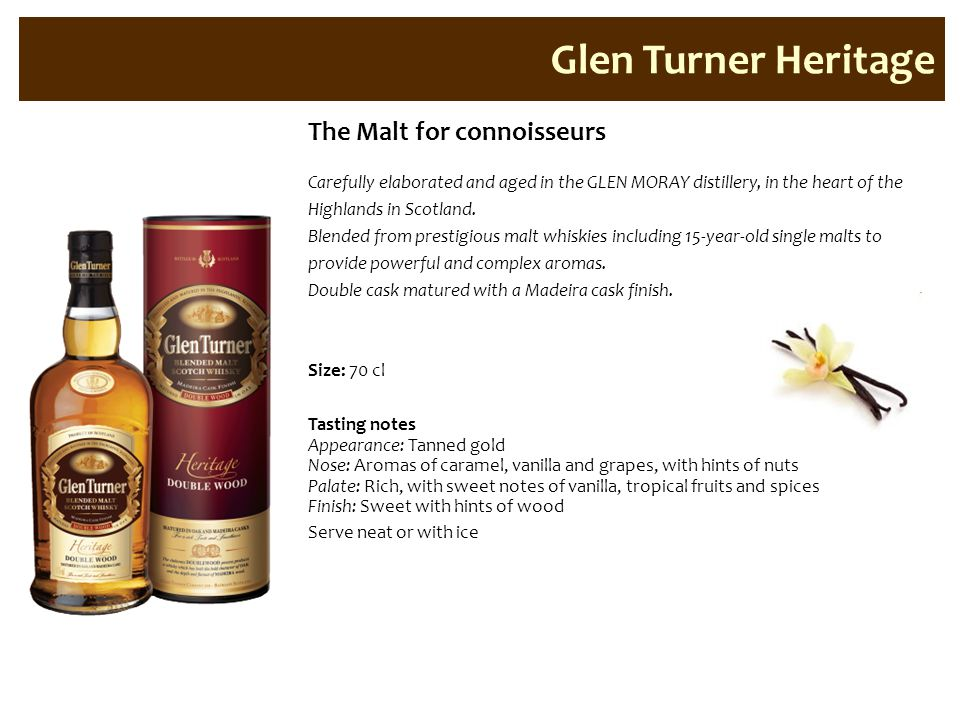 Glen Turner Heritage The Malt for connoisseurs