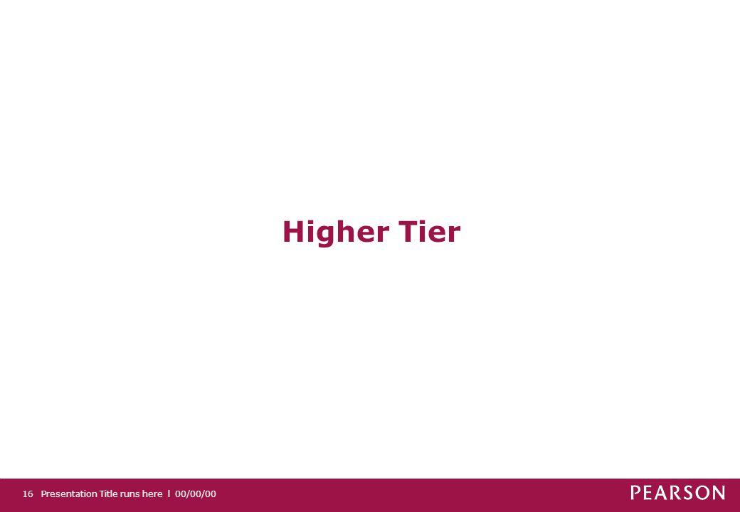 Higher Tier 16 Presentation Title runs here l 00/00/00