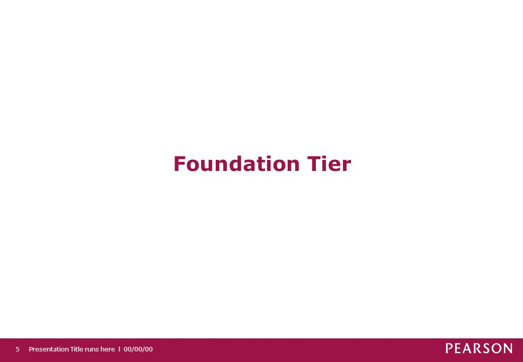 Foundation Tier 5 Presentation Title runs here l 00/00/00