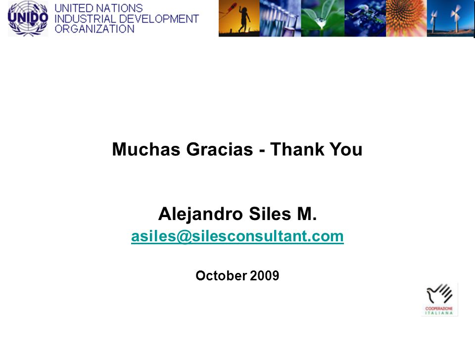 Muchas Gracias - Thank You