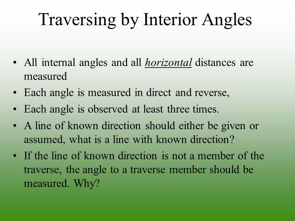 Traversing by Interior Angles