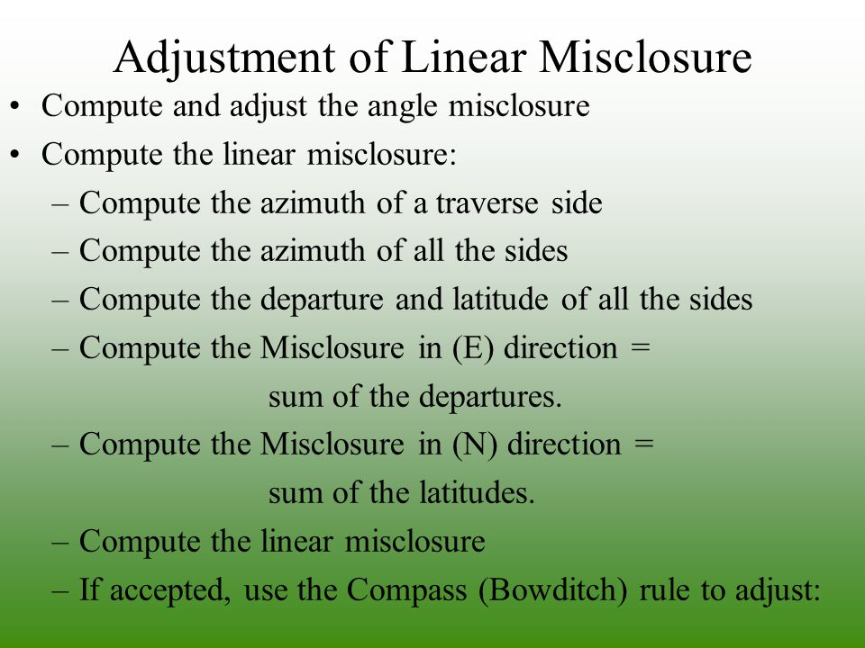 Adjustment of Linear Misclosure